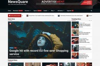 NewsQuare – A Free News Website WordPress Theme