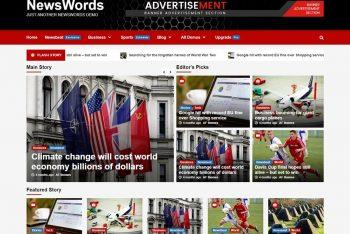 NewsWords – Free News Website WordPress Theme