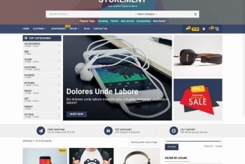 Storement – eCommerce Website WordPress Theme for Free