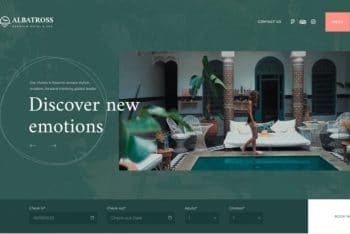 Albatross – Free Hotel Booking Website WordPress Theme