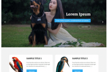 Animate Lite – Pet Care WordPress Theme for Free