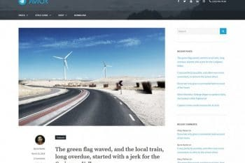 Avior – A Free WordPress Blog Theme