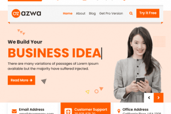 Azwa – Free Multipurpose WordPress Theme