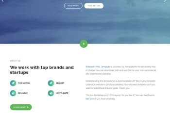 Breezed – One-page HTML Template for Free