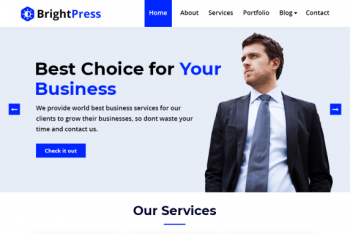 BrightPress – Multipurpose Business Website WordPress Theme for Free