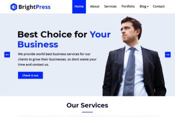 BrightPress – Multipurpose Business Website WordPress Theme for Free
