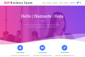 Business Space – Versatile WordPress Theme for Free