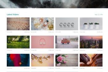 Catalog Z – Free Photo Video Based Website HTML Template