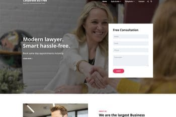 Corporate Biz – A Free Corporate Website WordPress Theme