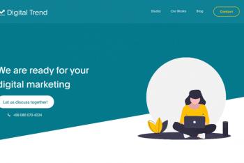 Digital Trend – Digital Marketing Website Template  for Free