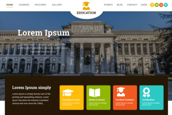 Education Insight – Education Website WordPress Theme for Free