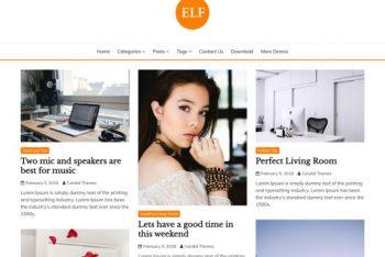 Elf- Free WordPress Blog Theme
