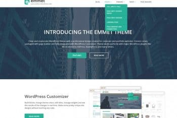 Emmet Lite – A Free One-page Multipurpose WordPress Theme