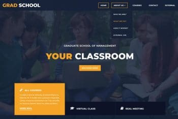 Grad School – Free Educational Website HTML Template