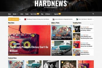 HardNews – Free WordPress Blogging Theme