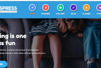 KidsPress – Children Related Website WordPress Theme for Free