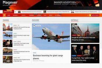 Magever – News & Magazine WordPress Theme for Free