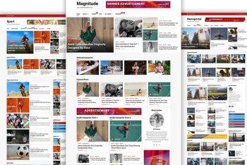 Magnitude – A Free Online Magazine WordPress Theme