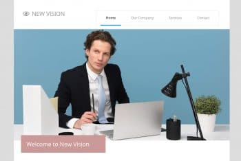 New Vision – Free Bootstrap Website Template