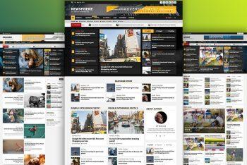 Newsphere – News Website WordPress Theme for Free