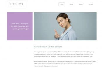 Next Level – A Free Simple CSS Bootstrap Template