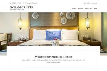 Oceanica Lite – A Free Travel Website WordPress Theme