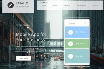 Parallo – A Free App Website HTML Template
