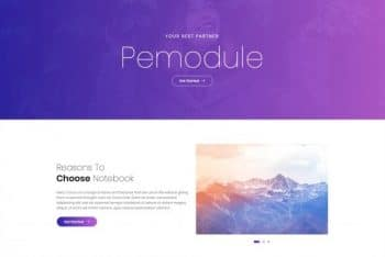 Pemodule – HTML Portfolio Website Template for Free