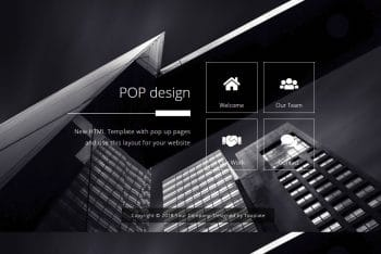 Pop Design – Free HTML Website Template