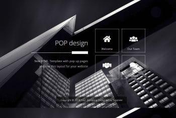 Pop Design – Free HTML Website Template
