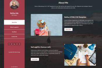 Reflux – A Free One-page Website Template