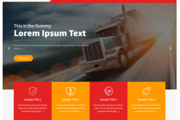 Shifters Lite – A Free Logistics WordPress Theme