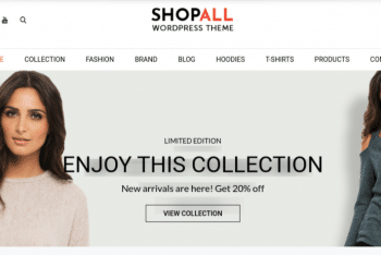 Shopall – A Free Ecommerce Website WordPress Theme