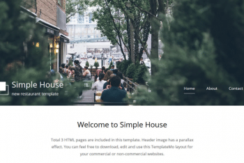 Simple House – Restaurant & Cafe Website HTML Template for Free