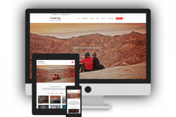 Travel Log – Travel Website WordPress Theme for Free