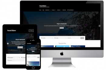 Travel Store – A Free Travel Website WordPress Theme