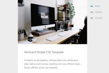 Verticard – Simple HTML Template for Free