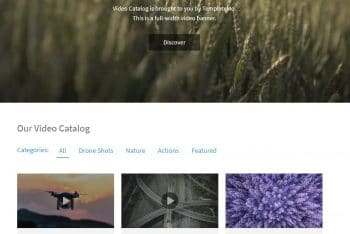 Video Catalog – Video Gallery Website HTML Template for Free