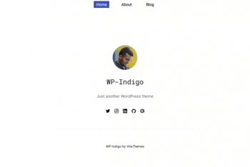 WP Indigo – Minimal WordPress Theme for Free