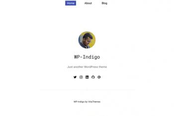 WP Indigo – Minimal WordPress Theme for Free