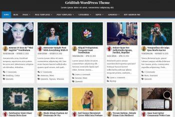 GridHub – Free Responsive Grid WordPress Theme