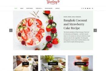 Yummy Recipe – WordPress Blog Theme for Free