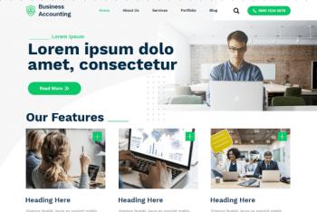 Business Accounting – Free Accounting Website WordPress Theme