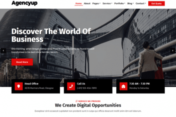 Agencyup – Business Website WordPress Theme for Free