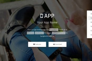 App Landing Page Bootstrap Template for Free