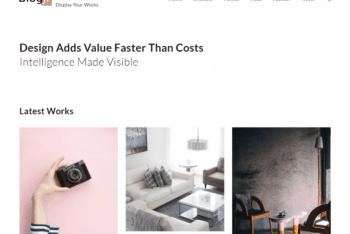 BlogJr Portfolio  – An Easy-to-use WordPress Blog Theme for Free