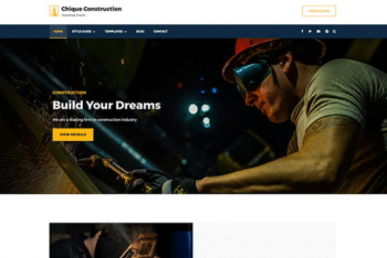 Chique Construction – Free Construction Website WordPress Theme
