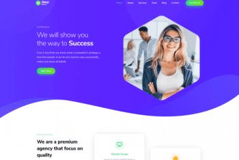 Deep – Free Responsive WordPress Theme