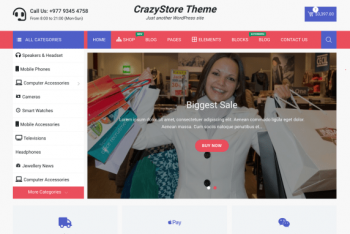 CrazyStore – Ecommerce WordPress Theme for Free