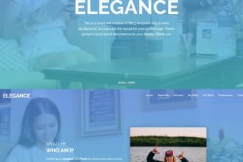 Elegance – Fully Customizable HTML Template for Free